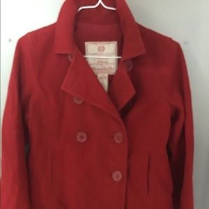 Abercrombie & Fitch Wool Jacket Waist Coat M Red
